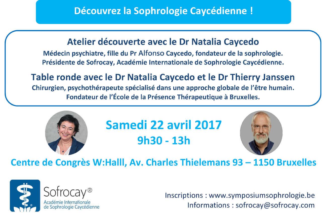Natalia Caycedo en Belgique le 22 avril 2017 pour une conférence avec Thierry Janssen